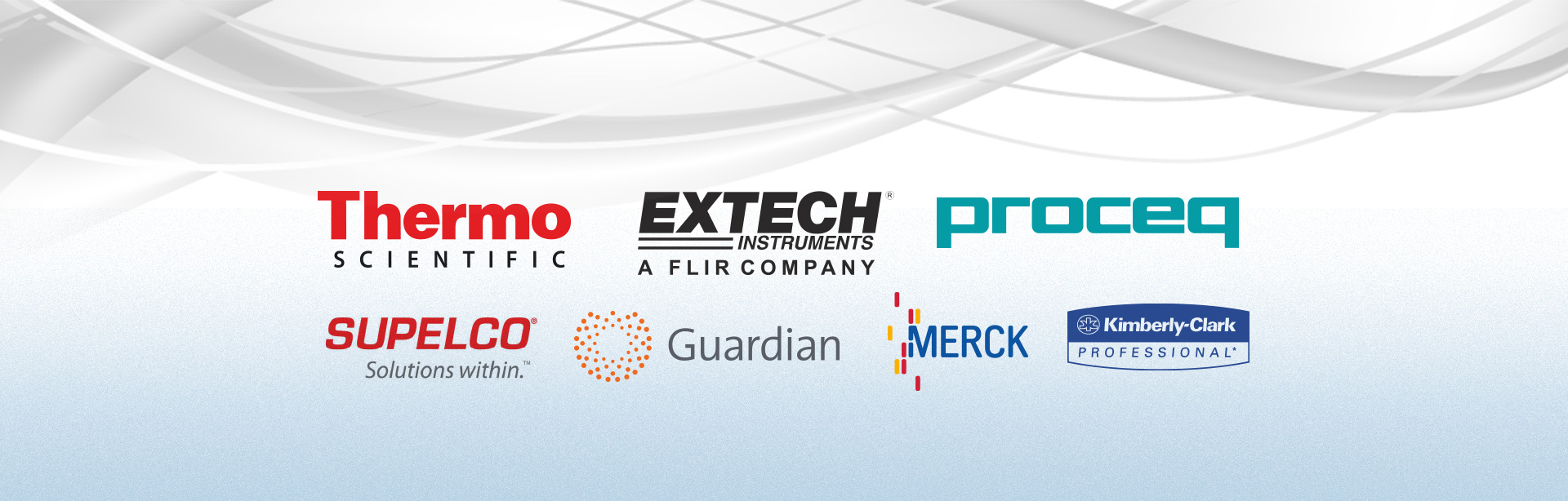 Major brands like Thermo scientific, Extech, Proceq, Supelco, guardian, Merck, Kimberly-Clark are available on request.